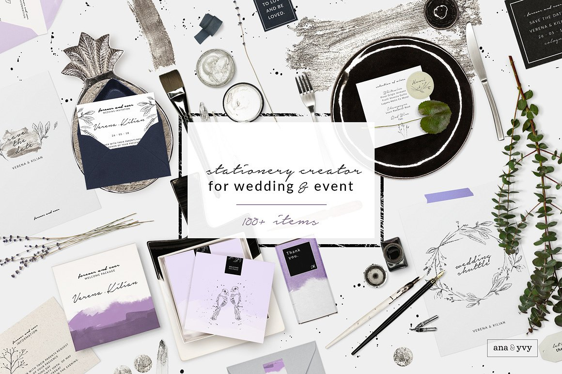 wedding design corporate stationery scene creator