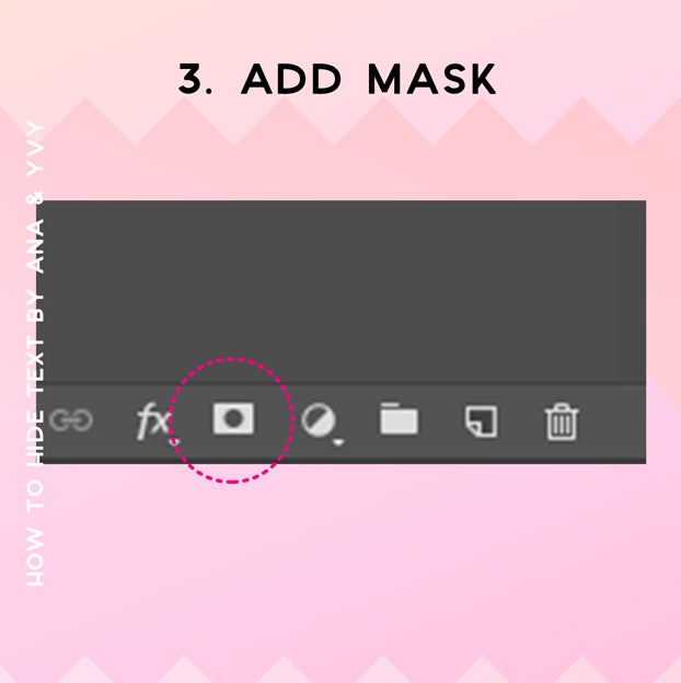 add mask to your layer | how to hide text behind things
