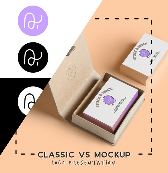 calssic logo presentation vs mockup business card changing design workflow