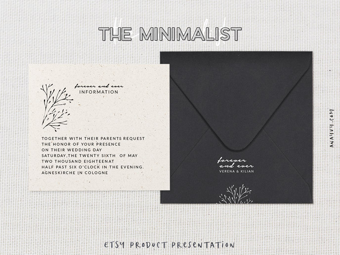 Etsy shop product presentation - the minimalist - made with scene creator mockup