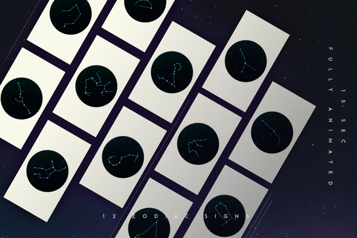 zodiac signs nightsky instagram stories stars astro lunar horoscope
