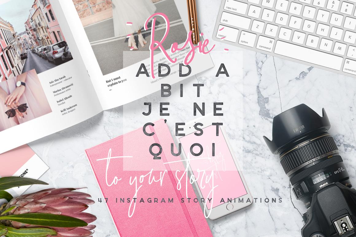 Rose rosie instagram story animation stories pack ladyboss girly blogger fashion ana yvy