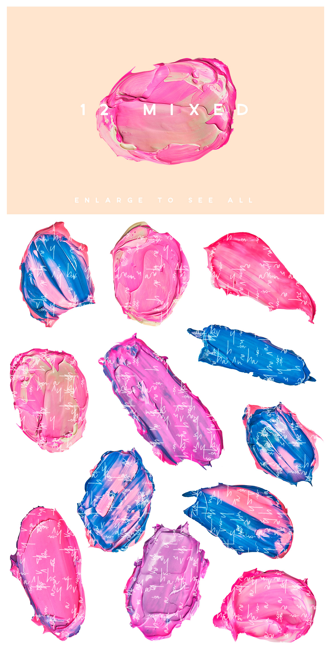 beauty cosmetic swash lipstick acrylic paint stroke acrylic jelly slime gum ana yvy
