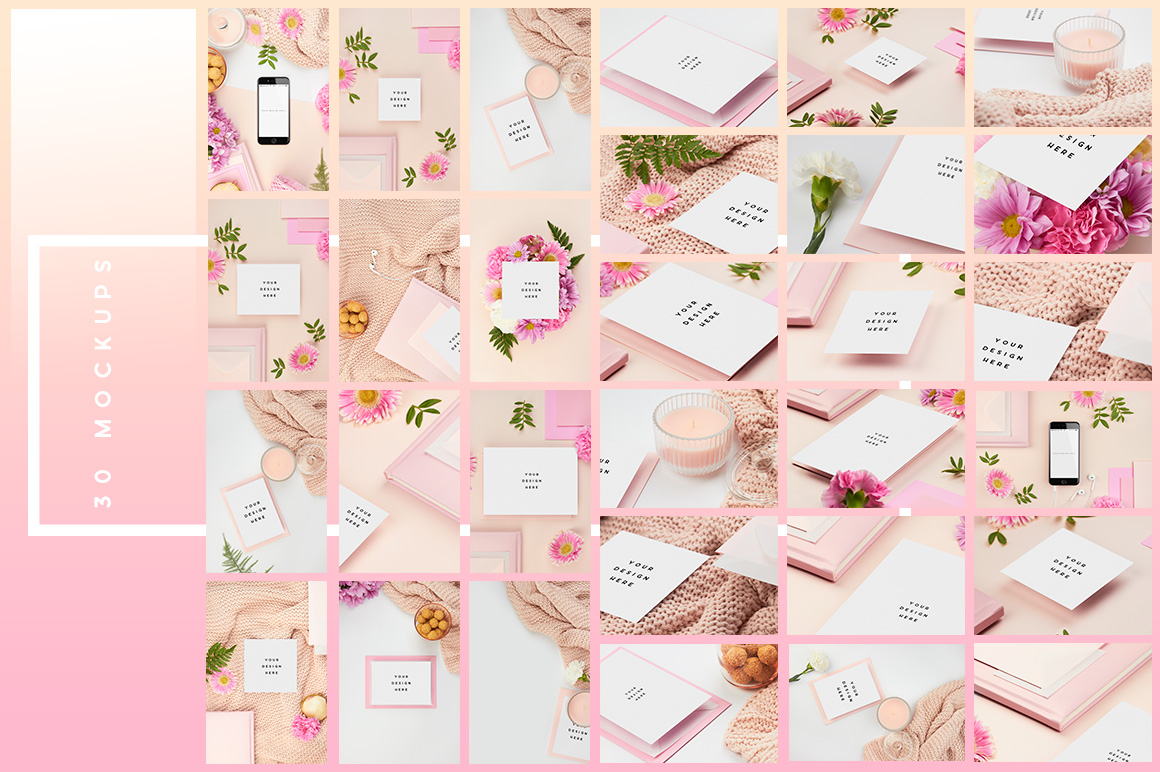 02b-pink-peach-flower-flatlay-mockup-stock-images-mockup-overhead-photography-ana-yvy