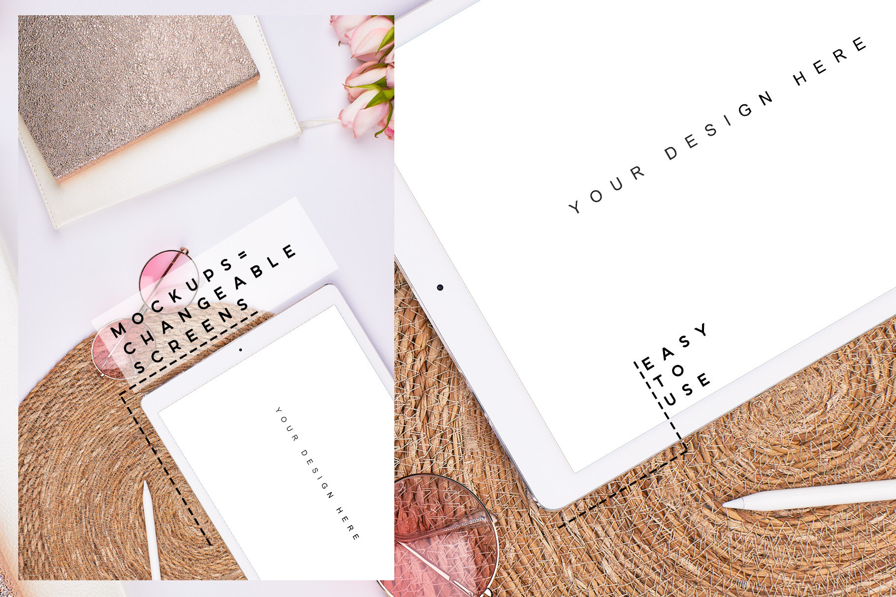 04-pink-blogger-summer-stock-images-bundle-sunglas-mockup-ipad-iphone-hand-planner