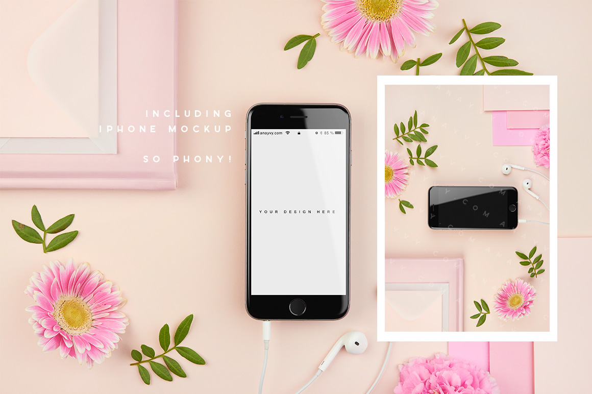 04-pink-peach-flower-flatlay-mockup-stock-images-mockup-overhead-photography-ana-yvy