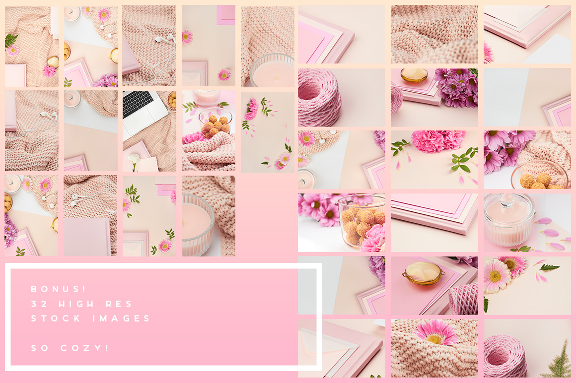 05-pink-peach-flower-flatlay-mockup-stock-images-mockup-overhead-photography-ana-yvy