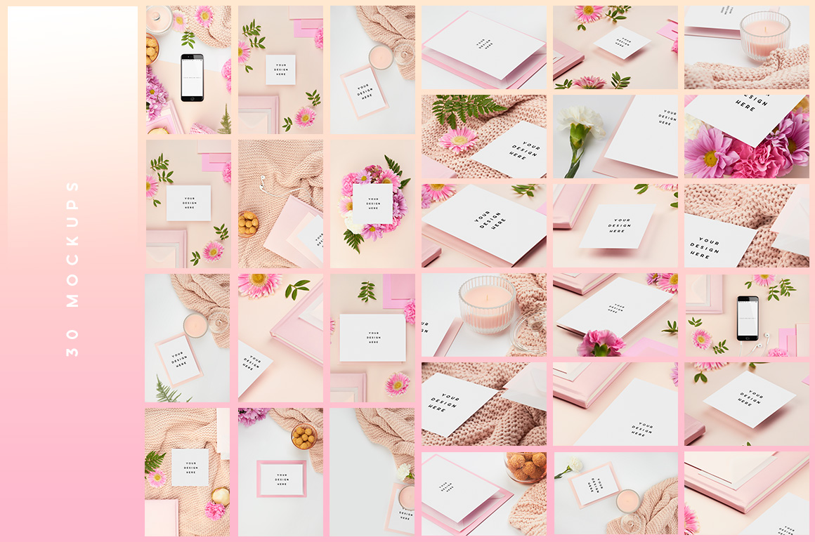nicht02-pink-peach-flower-flatlay-mockup-stock-images-mockup-overhead-photography-ana-yvy