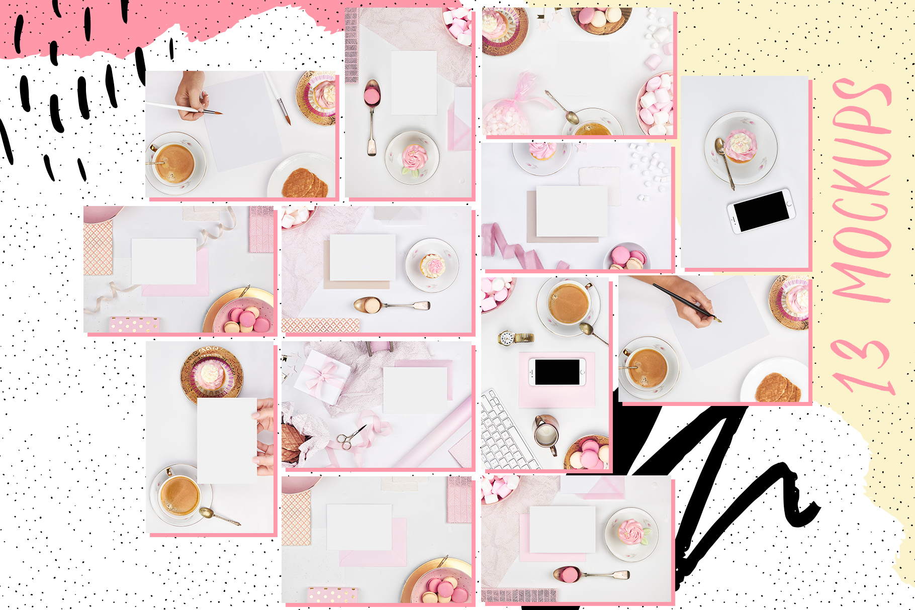 Oui cupcake stock photography romantic coffee cake tea time girly