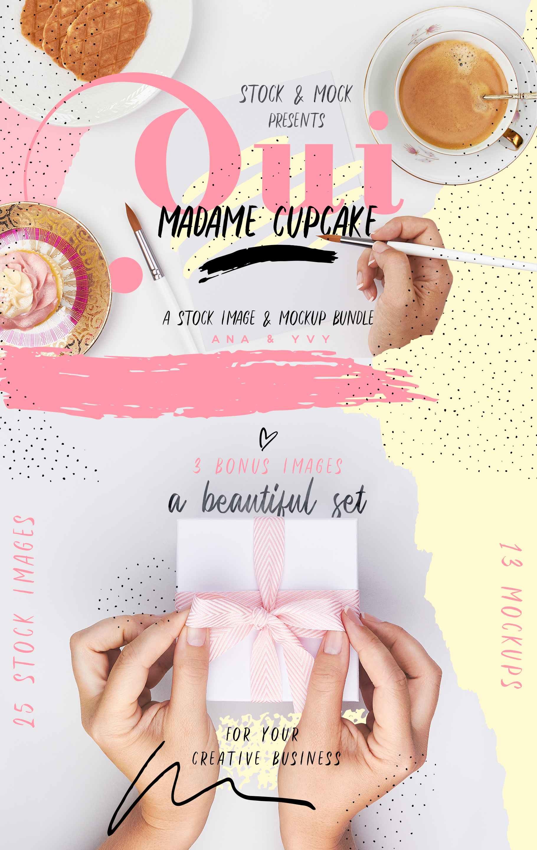 Oui cupcake stock photography romantic coffee cake tea time girly