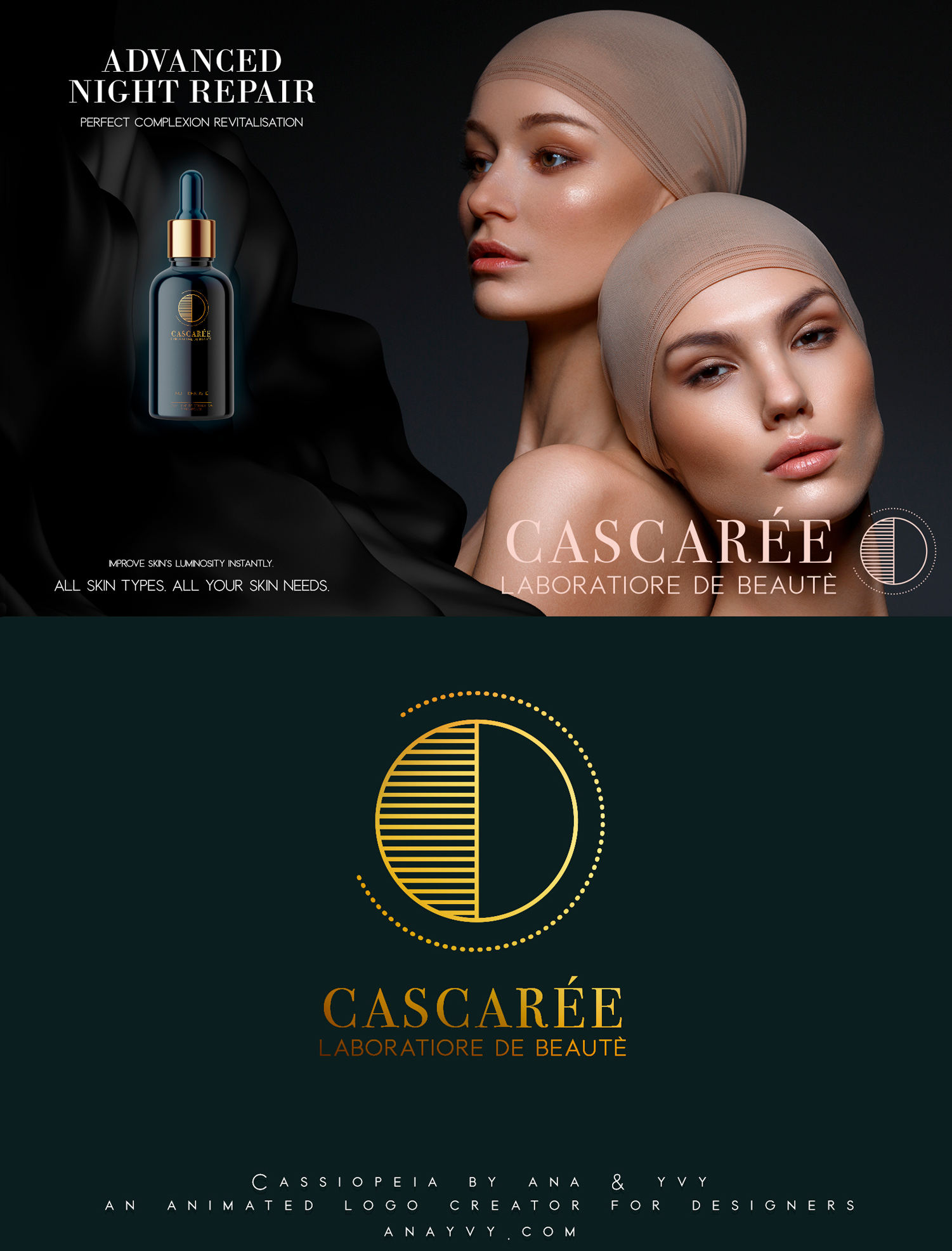 Cassiopeia-logo-design-animation-anayvy-motion-vintage-hand-greenery-apothecary-Serum-2