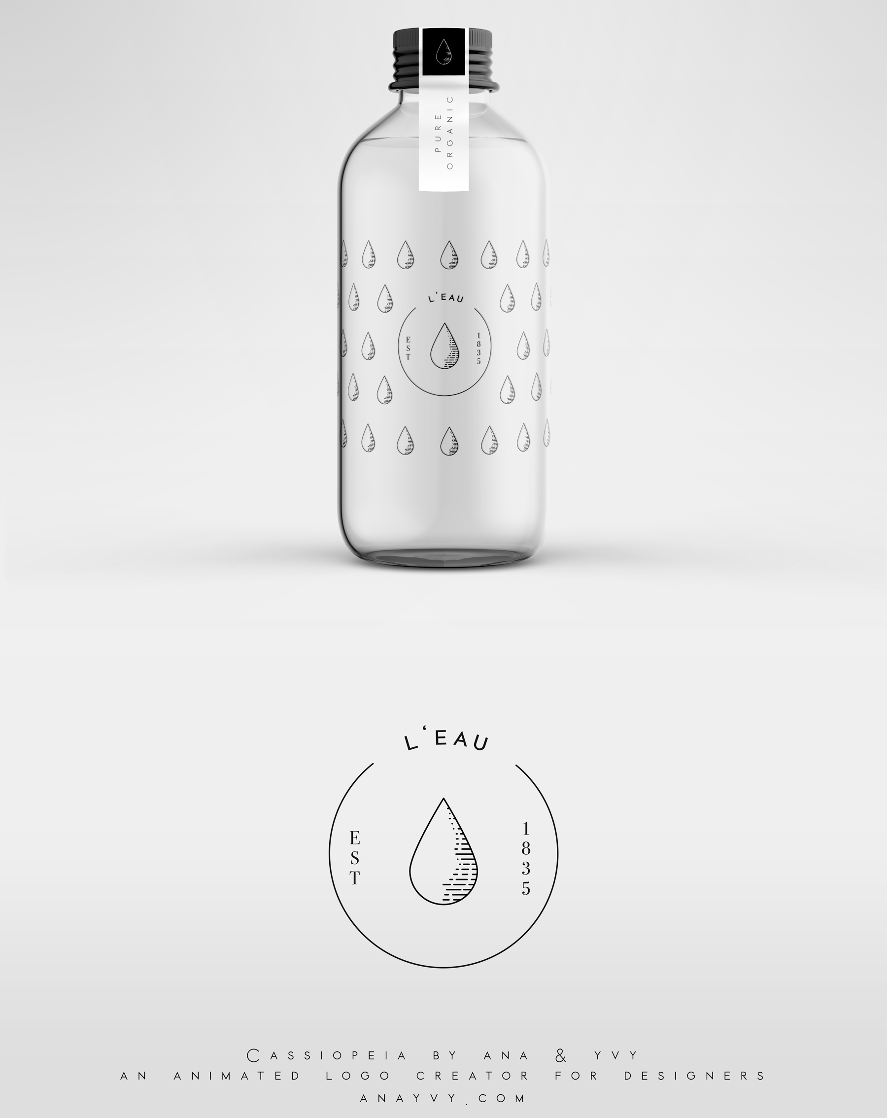 Cassiopeia-logo-design-animation-anayvy-motion-vintage-hand-greenery-apothecary-Water-2