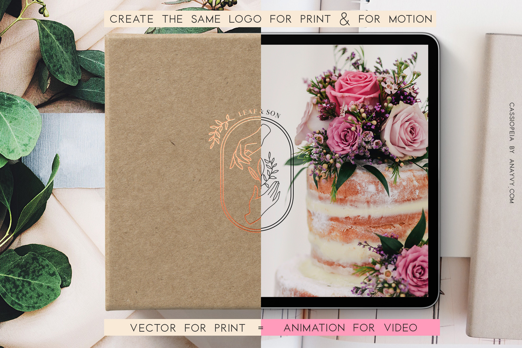Cassiopeia-logo-design-animation-anayvy-motion-vintage-hand-greenery-apothecary-compare-wedding