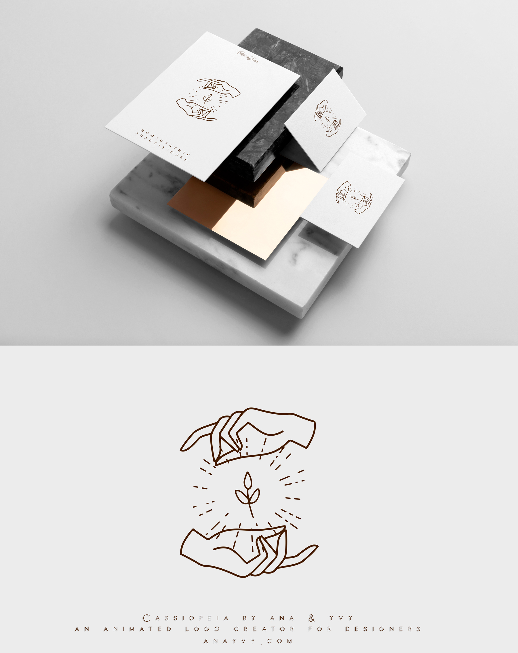 Cassiopeia-logo-design-animation-anayvy-motion-vintage-hand-greenery-apothecary-heal-healer-2